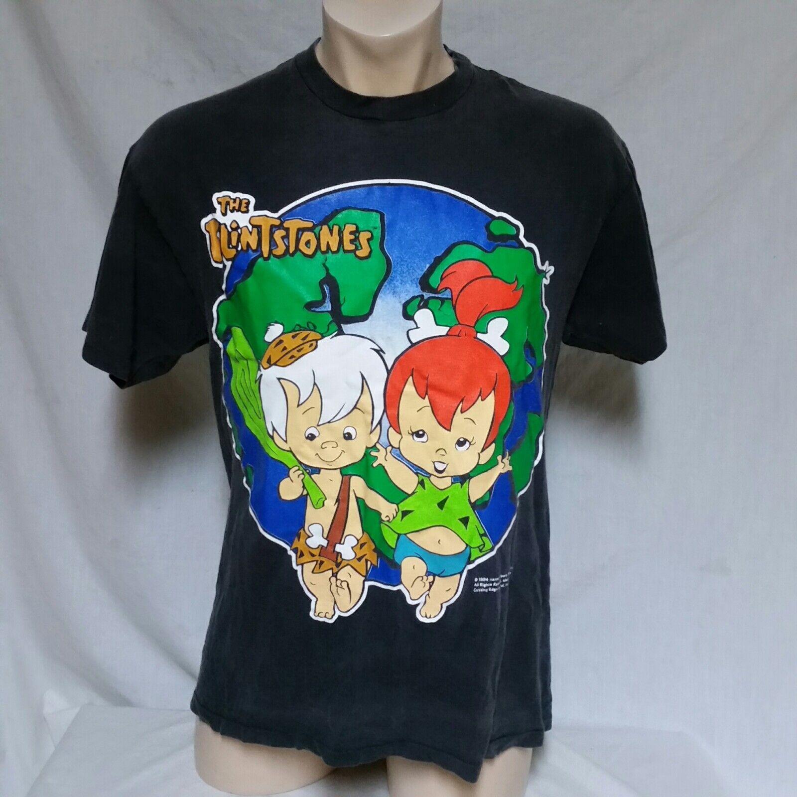 VTG 1994 The Flinstones T Shirt 90s Tee Cartoon Bam Pebbles Bam Bam Cartoon TV Movie Large 8e0063