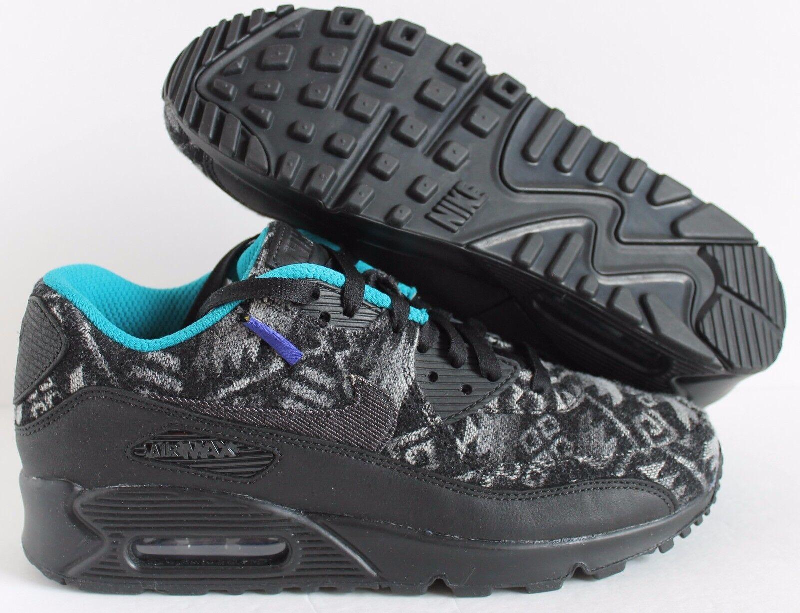 Nike Air Max Black-White-Turquoise 90 Premium Pendelton ID Black-White-Turquoise Max  SZ 8.5  [838675-901] dbf357