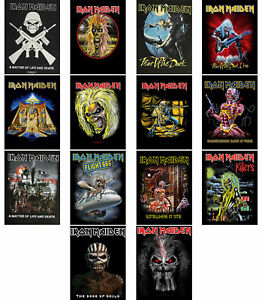 Iron-Maiden-Back-Patch-Book-of-Souls-Trooper-Killers-Eddie-band-logo-Official
