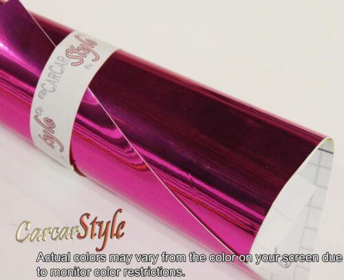 Couleur chrome miroir tout 0,1 mètre x 1,52 m Autocollant Vinyle Wrap Véhicule Air Libre