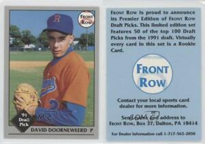 Details About 1991 Front Row Draft Picks Promotional Dave Doorneweerd Rookie Baseball Card