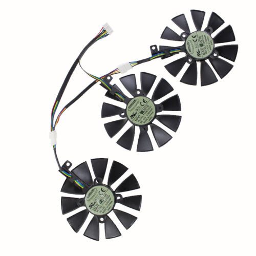 3Pcs//lot T129215SU ASUS STRIX GTX980Ti R9 390 Original Video Card Cooling Fan