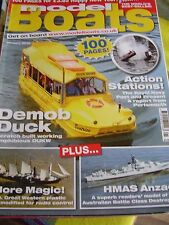 MODEL BOATS JANUARY 2010 DUCK TOURS BEATRICE HMAS ANZAC RFA GOLD ROVER