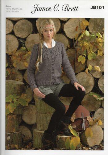 102 JB 099 104,105 Multi List 101 James C Brett Aran Knitting Patterns 103