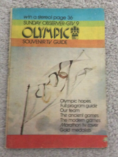 AUSTRALIAN OLYMPIC BOOK Montreal 1976 Sunday Observer Souvenir Tv Guide Rare
