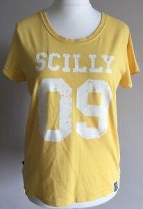 Ladies-Seasalt-Yellow-Organic-Cotton-Summer-T-Shirt-Size-12