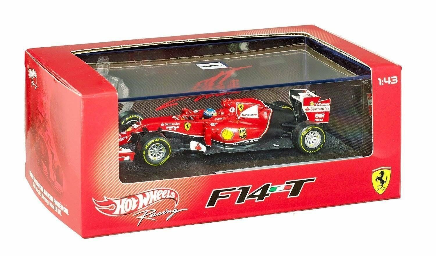 Hot wheels - 1 43 ferrari f14 t f. alonso arte bly69