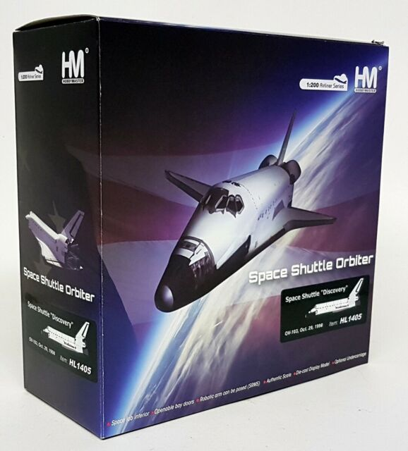 Hobbymaster 1/200 Scale - HL1405 Space Shuttle Orbiter Discovery OV-103 Oct 1998