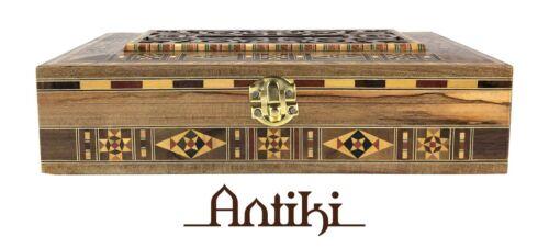 Handmade mosaic wooden tissue box