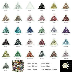 1000-Crystal-Flat-Back-Rhinestones-Face-Gems-Card-Making-Glitter-Beads-Embellish