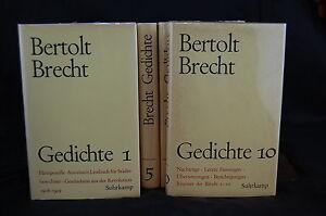 Details About Gedichte Von Bertolt Brecht In 10 Bände Suhrkamp Verlag
