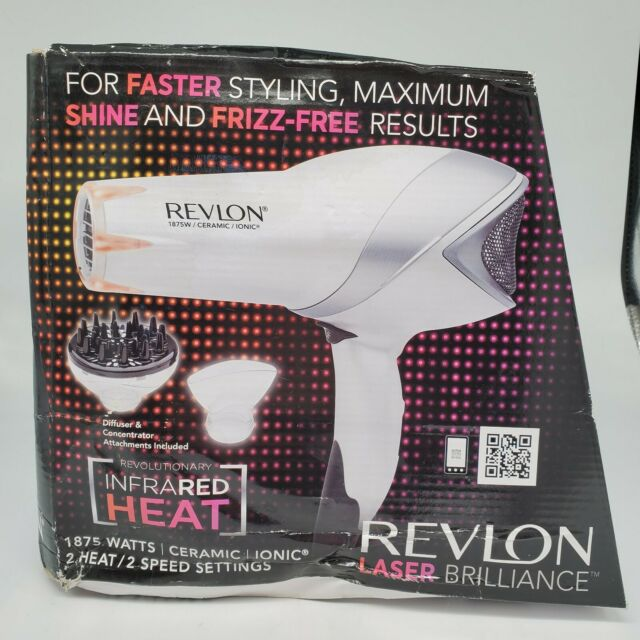 Revlon Hair Dryer Blower Laser Brilliance 1875W Salon Infrared Heat Diffusers