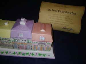 Lenox-LENOX-VILLAGE-GIFTWARE-Quarter-Pound-Covered-Butter-Dish-NEW-ORIGINALBOX