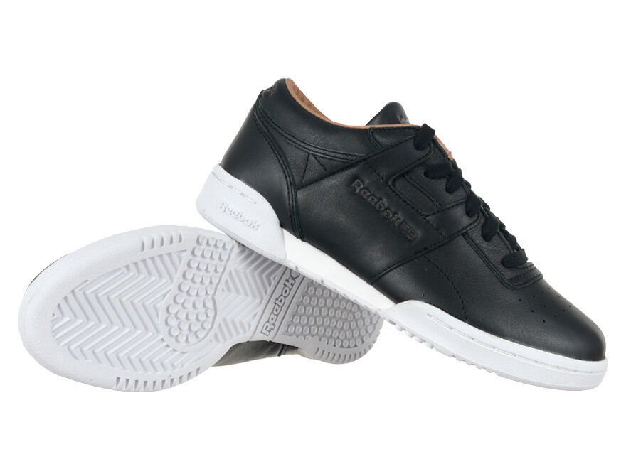 Reebok Classic Workout Low Clean PN Leather Noir Trainers Everyday Sneakers