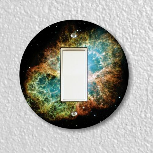 Crab Nebula Round Light Switch and Outlet Plate Covers
