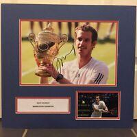 Signed Andy Murray Mounted Wimbledon Champion 2013 Photo Tennis