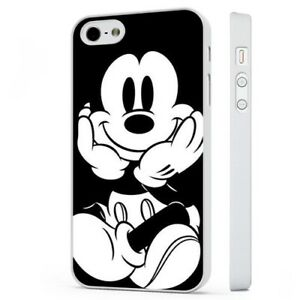 Mickey-Mouse-Disney-Art-Black-White-WHITE-PHONE-CASE-COVER-fits-iPHONE