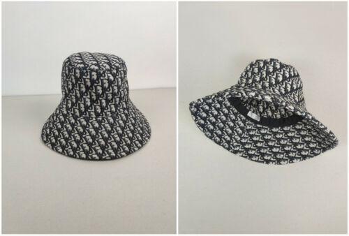 Authentic Dior Monogram Bucket Hat Panama Cap Unis