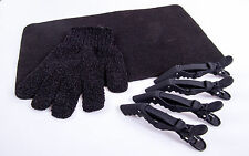 4x Cloud 9 Hair Clips,Heat Protection Glove & BLCK Heat proof Mat For Hair Tools