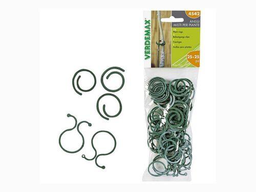 VERDEMAX legacci x legare piante tra loro filo metallico 25 mm 4542 25 pz anelli