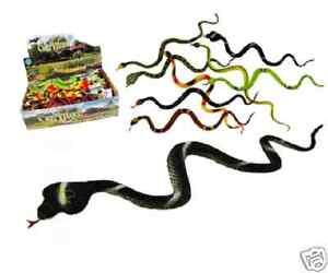 Jouet-Plastique-Serpent-Factice-34-cm-Snake-Toy-7-Colori-au-choix