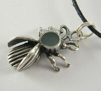 Beetle Bug Charm Pendant Necklace .925 Sterling Silver Mens Jewelry Usa Made