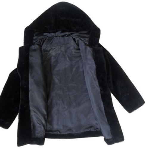 Women Faux Fur Jacket Winter Warm Coats Parka Hooded Pockets Overcoat Outerwear