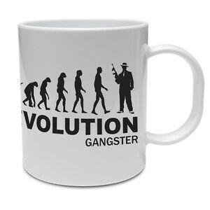 EVOLUTION Gangster-penale / Gang / mobsters / divertenti a tema TAZZA IN CERAMICA 							 							</span>