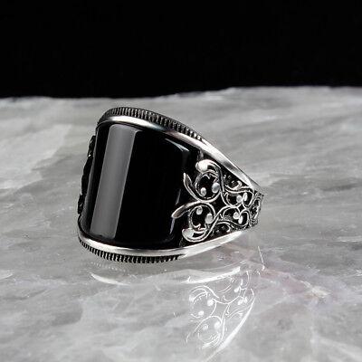 Handmade Jewellery Ring 925 Silver Ring African Red Onyx Gemstone
