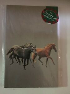 039-Galloping-Horses-Horse-silver-15-small-Christmas-cards-SALE
