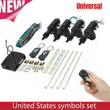 Universal Car Central Power Door Lock Unlock Remote Kit Keyless Entry 4 Doors