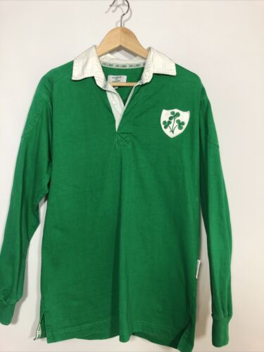 Rugby Polo Shirt Ireland Irish Small Green Long SL