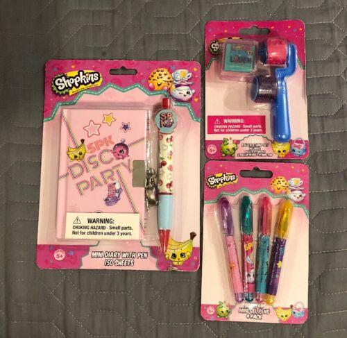 Scented Gel Pens Pack Stamp Set Bundle Birthday Shopkins Mini Diary W// Pen