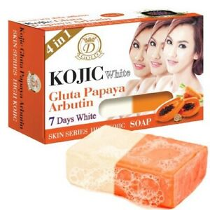 6 Pcs. Kojic Gluta Papaya Arbutin 7 Days Soap Free Shipping DHL