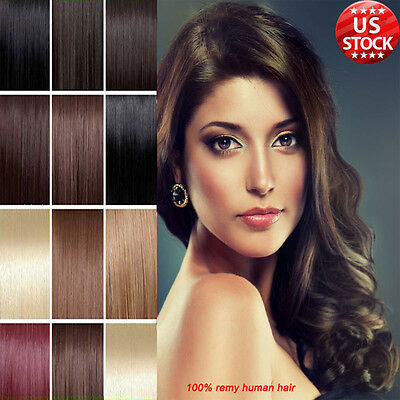30% Off 100% Real Good Clip In Remy Human Hair Extensions Full Head 7 Piece A237