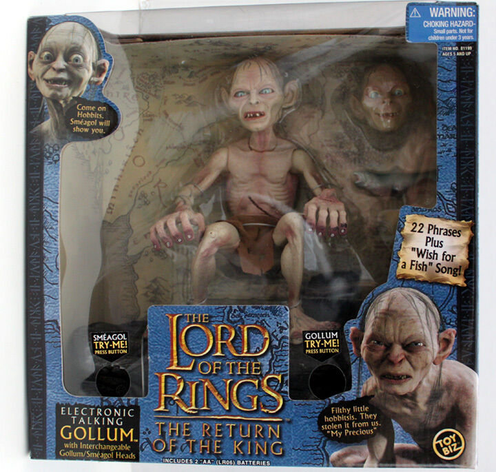 LORD OF THE RINGS LOTR ELECTRONIC TALKING GOLLUM ROTK