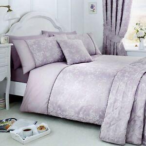 Serene JASMINE Lavender Purple Jacquard Duvet Cover Bedding Curtains Collection