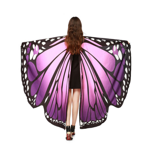 Adult Butterfly Wings Shawl Fairy Pixie Scarf Cover Ups Bikini Festival Costume