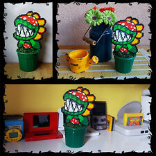 "Super Mario Petey Toy Piranha Plant Figure 8 bit Decoration DS SNES Pixel Art 8"""