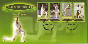 GRENADA-2007-SHANE-WARNE-THE-POWER-4v-GREEN-FDC