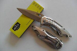 CA-049 Couteau de Sauvetage Lame Acier 8,5 cm Manche Alu 12 cm Outdoor