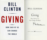 President Bill Clinton Signed Giving 1st Ed + Full Letter Psa/dna Autographed