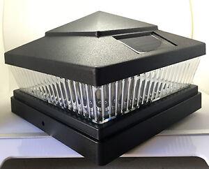 4 Pack Solar 6x6 Black Semi Gloss Textured Finish Post