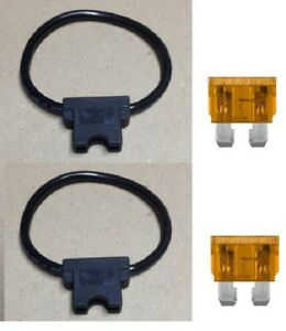 Includes 2 pc 2 35 AMP FUSE Free Ship USA 10 GAUGE ATC FUSE HOLDER IN-LINE