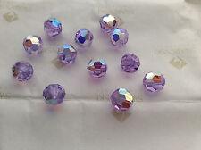 36 Swarovski #5000 6mm Crystal Violet AB Faceted Round Beads