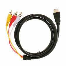 1.5M HDMI Male to 3 RCA Audio Video AV Component Cable Adapter Gold Plated