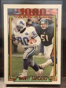 1992 Topps Football - 1000 Yard Club - #2 - Barry Sanders - Detroit Lions
