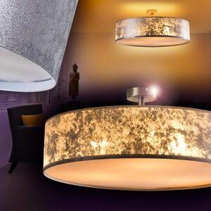 design deckenstrahler stoff deckenleuchte deckenlampe deckenleuchten silber 60cm ebay. Black Bedroom Furniture Sets. Home Design Ideas
