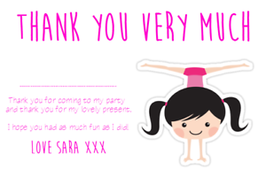 personalised photo paper card birthday party thank you notes ROBLOX #1