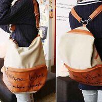 Unisex Damen Leder Rucksack Tasche Schultertasche Schulrucksack Backpack Vintage
